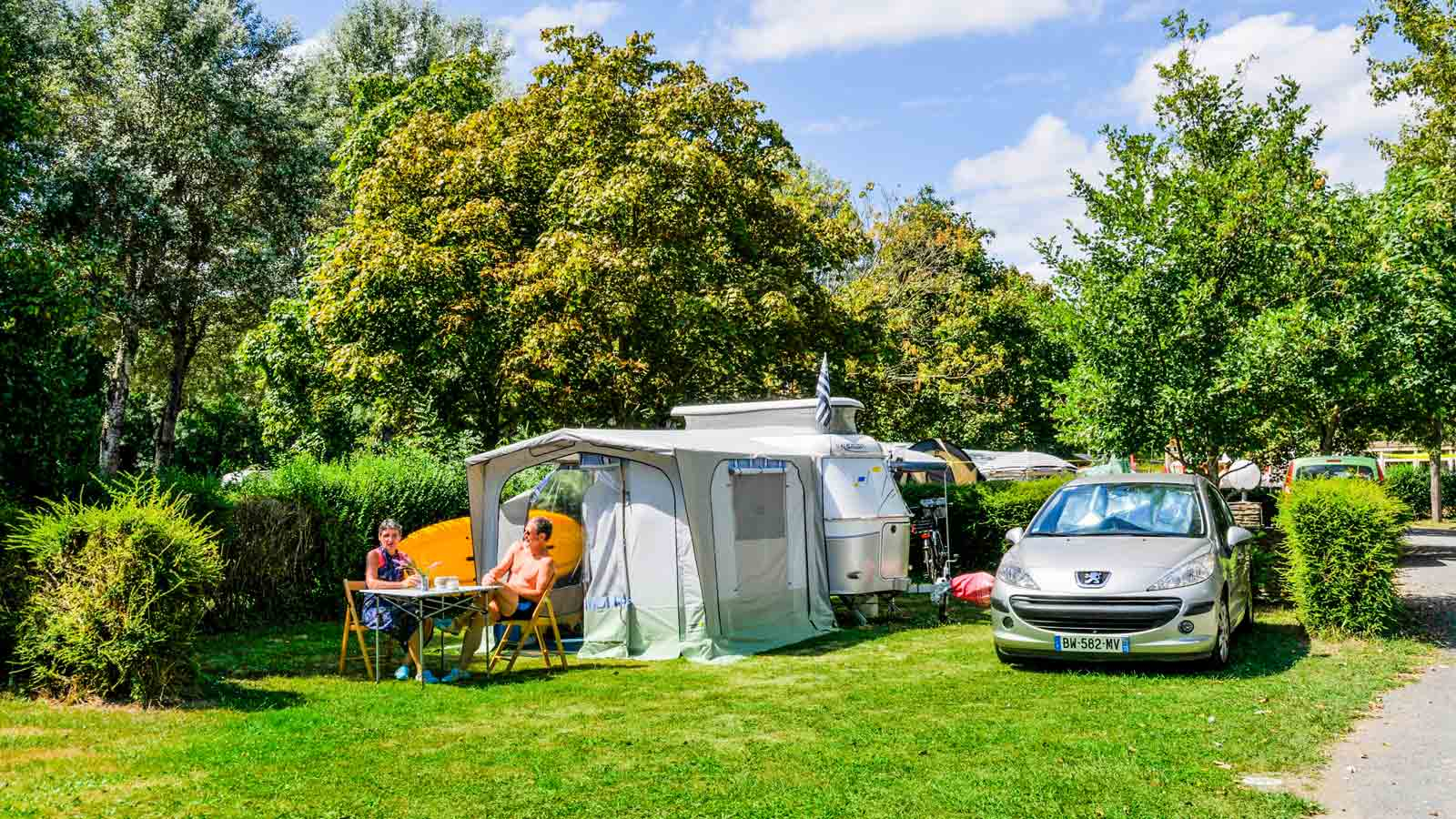 Emplacement camping Loire